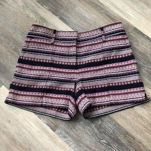 LOFT Jacquard Tribal Print Riviera Shorts Size 2